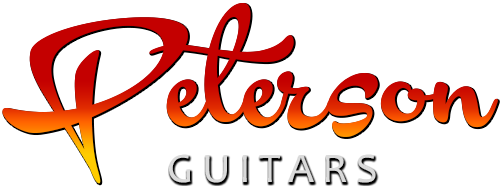 Peterson Guitars Retina Logo